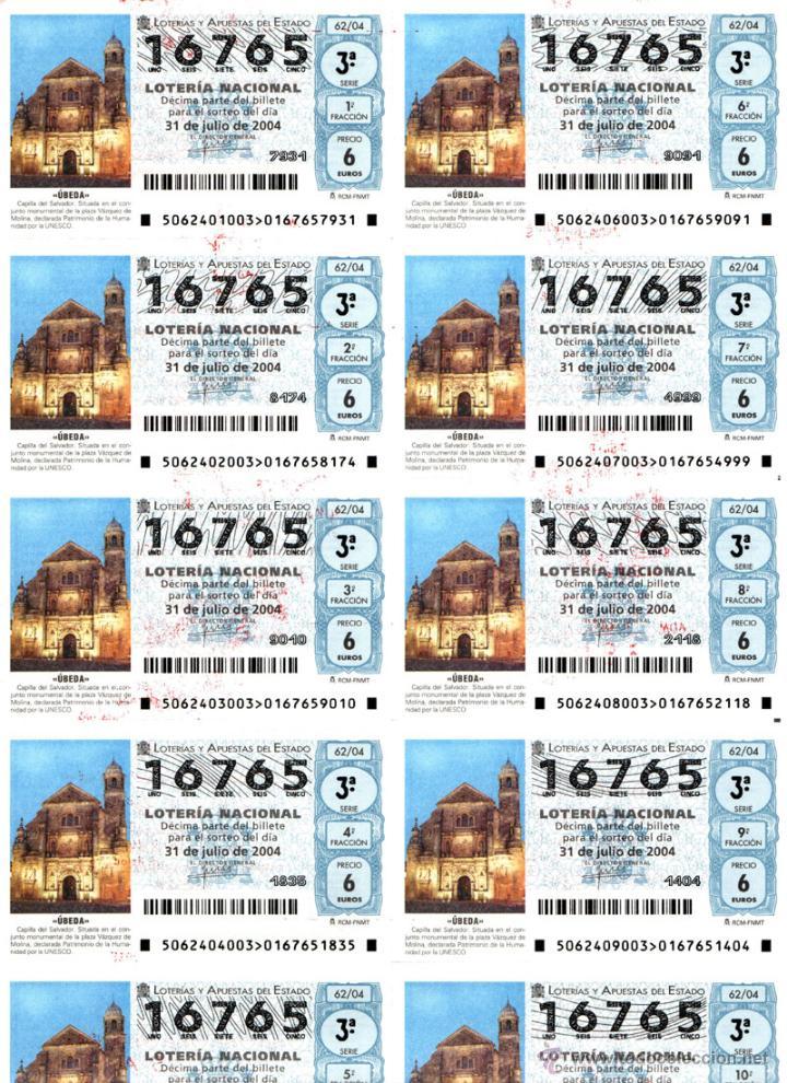 Lotería Nacional: Lote Colección 57 hojas loteria Nacional ( 570 décimos) de 1988 al 2004 ver todas las fotografias - Foto 38 - 43281274