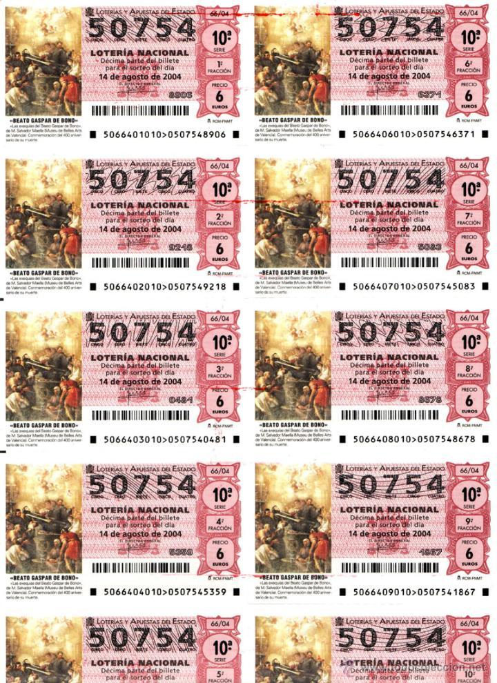 Lotería Nacional: Lote Colección 57 hojas loteria Nacional ( 570 décimos) de 1988 al 2004 ver todas las fotografias - Foto 41 - 43281274