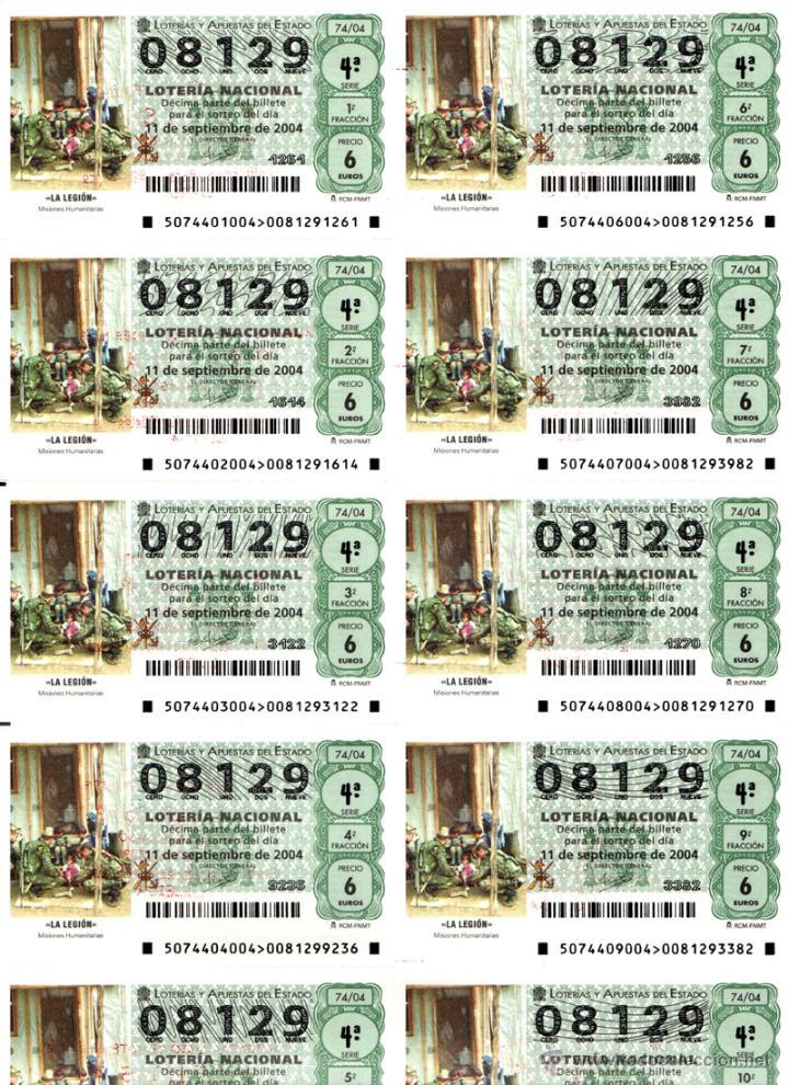 Lotería Nacional: Lote Colección 57 hojas loteria Nacional ( 570 décimos) de 1988 al 2004 ver todas las fotografias - Foto 44 - 43281274