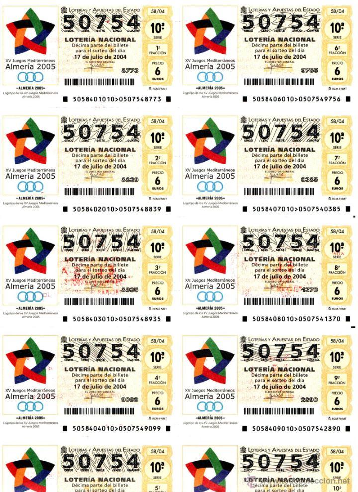 Lotería Nacional: Lote Colección 57 hojas loteria Nacional ( 570 décimos) de 1988 al 2004 ver todas las fotografias - Foto 45 - 43281274