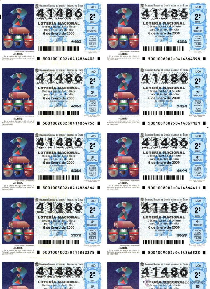 Lotería Nacional: Lote Colección 57 hojas loteria Nacional ( 570 décimos) de 1988 al 2004 ver todas las fotografias - Foto 51 - 43281274