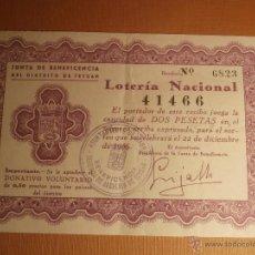 Lotería Nacional: PARTICIPACIÓN LOTERIA NACIONAL NAVIDAD - JUNTA DE BENEFICENCIA TETUAN - 1956 - 41466 -. Lote 43374730