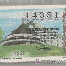 Lotería Nacional: LOTERÍA NACIONAL DE LOS SÁBADOS, AÑO COMPLETO ( 1973 ). Lote 43640240