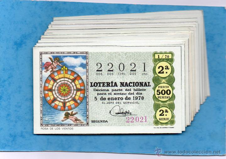 LOTERIA NACIONAL AÑO 1970 COMPLETO DE LOS SABADOS 36 DECIMOS (Coleccionismo - Lotería Nacional)