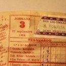 Lotería Nacional: QUINIELA 27 SEPT 1964. Lote 44332349