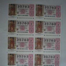 Lotería Nacional: HOJA COMPLETA LOTERÍA NACIONAL - 10 DÉCIMOS - LA MORENITA - ANDÚJAR (JAÉN) - 17/01/2004. Lote 44414554