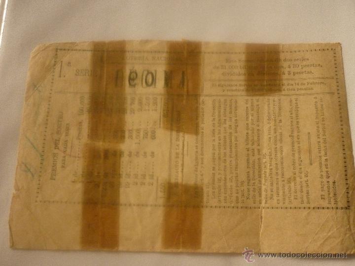 Lotería Nacional: DECIMO AÑO 1901. EL DE LA FOTO - Foto 2 - 44429124