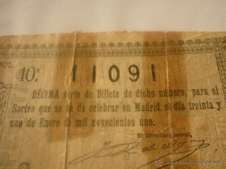 Lotería Nacional: DECIMO AÑO 1901. EL DE LA FOTO - Foto 3 - 44429124