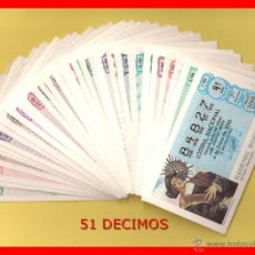 Lotería Nacional: AÑO 1986 COMPLETO LOTERIA NACIONAL DEL SABADO. Lote 44753523