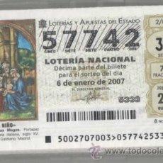 Lotería Nacional: LOTERÍA NACIONAL 2007 ( SÁBADOS ) COLECCIÓN COMPLETA, AÑO COMPLETO. Lote 44755557