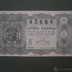Lotería Nacional: DECIMO DE LOTERIA NACIONAL AÑO 1949 , SORTEO Nº 3. Lote 44973584