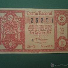 Lotería Nacional: DECIMO DE LOTERIA NACIONAL AÑO 1956 , SORTEO Nº 22. Lote 44988371