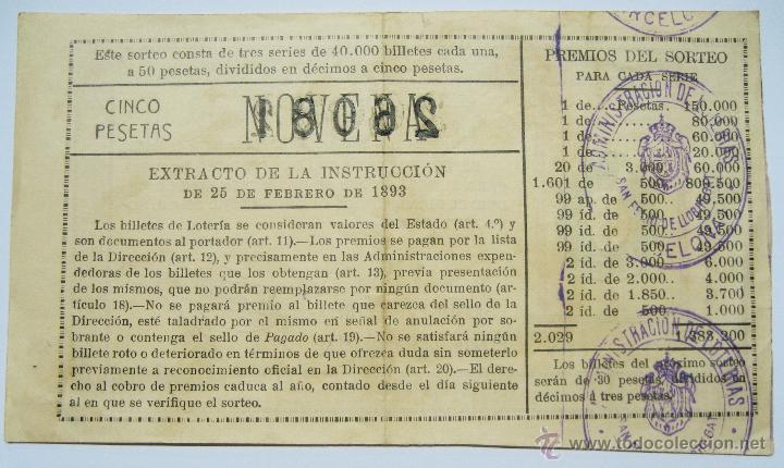 Lotería Nacional: LOTERIA NACIONAL. DECIMO DEL SORTEO 22 DE SEPTIEMBRE DE 1930. LOTE 0010 - Foto 2 - 45477855