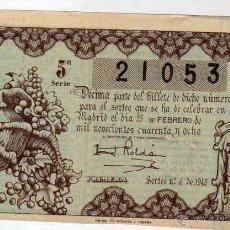 Lotería Nacional: LOTERIA NACIONAL SORTEO 6 DE 1948. Lote 45640177