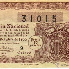 Lotería Nacional: LOTERIA NACIONAL SORTEO 30 DE 1955. Lote 45706188