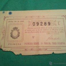 Lotería Nacional: LOTERIA NACIONAL..DECIMO DEL SORTEO 24 -- 1918. Lote 46082912