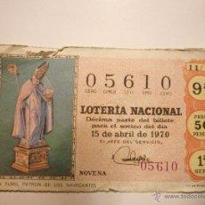Lotería Nacional: SORTEO 11/70 EL DE LA FOTO. Lote 46209394