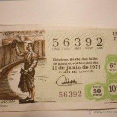 Lotería Nacional: SORTEO 18/71 EL DE LA FOTO. Lote 46209473