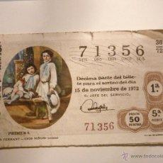 Lotería Nacional: SORTEO 36/72 EL DE LA FOTO. . Lote 46209627