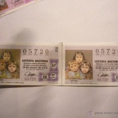 Lotería Nacional: SORTEO 16/72 EL DE LA FOTO. DOBLE. Lote 46209660
