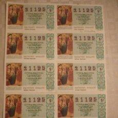 Lotería Nacional: BILLETE SORTEO 1/92. Lote 46214082