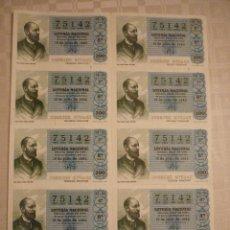 Lotería Nacional: BILLETE SORTEO 28/80 EL DE LA FOTO. Lote 46214117