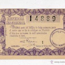 Lotería Nacional: ANTIGUA LOTERIA NACIONAL-SORTEO 28 DEL 1943. Lote 47553264