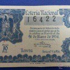 Lotería Nacional - Lotería nacional sorteo 9 de 1956 - 47580153