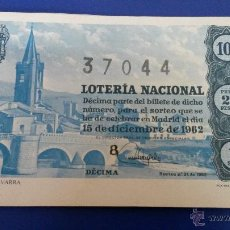 Lotería Nacional: LOTERÍA NACIONAL SORTEO 35 DE 1962. Lote 48581729