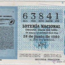 Lotería Nacional: LOTERÍA NACIONAL - SORTEO 25/80 - 28/06/1980 - EL ASTRÓNOMO MODERNO. Lote 47683167