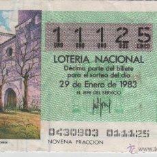 Lotería Nacional: LOTERÍA NACIONAL - SORTEO 4/83 - MADRIGAL DE LAS ALTAS TORRES. Lote 47683620