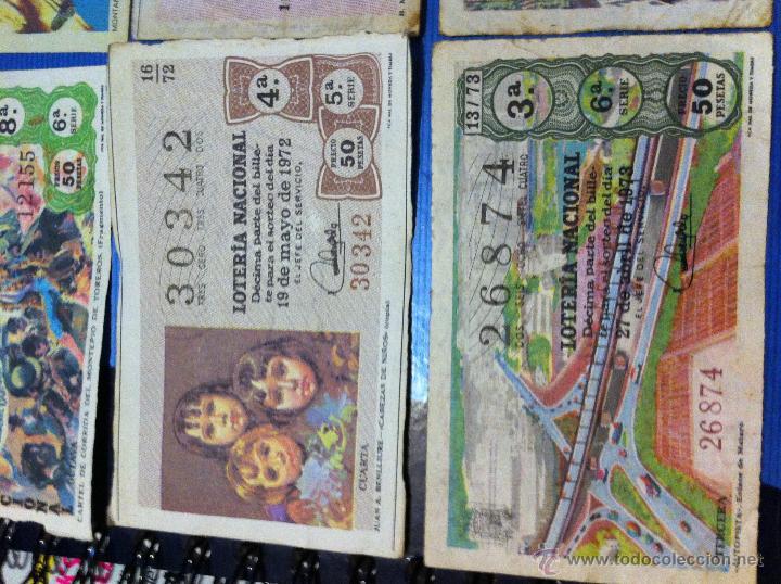 Lotería Nacional: Billetes de lotería de 1967-1968-1971-1972-1973 - Foto 2 - 48112670
