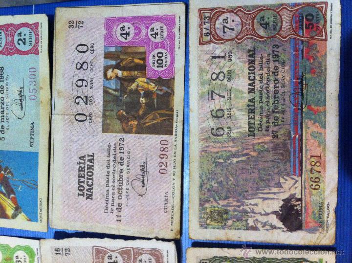 Lotería Nacional: Billetes de lotería de 1967-1968-1971-1972-1973 - Foto 3 - 48112670