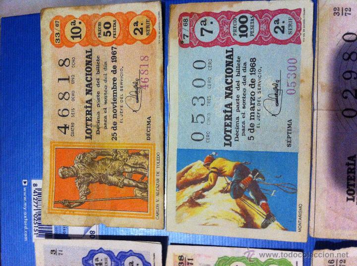 Lotería Nacional: Billetes de lotería de 1967-1968-1971-1972-1973 - Foto 4 - 48112670