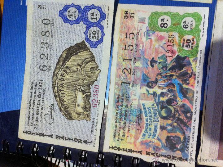 Lotería Nacional: Billetes de lotería de 1967-1968-1971-1972-1973 - Foto 5 - 48112670