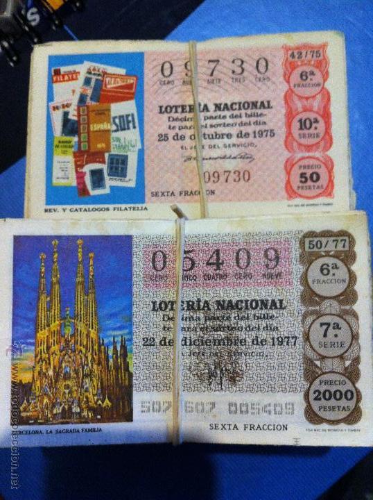 BILLETES LOTERÍA 1975-1976-1977-1978-1979-1980-1981 (Coleccionismo - Lotería Nacional)