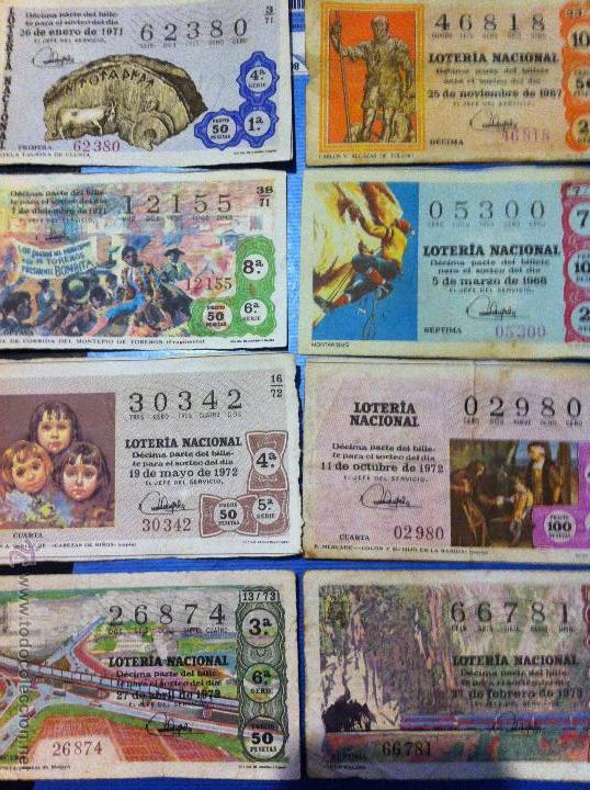 BILLETES DE LOTERÍA DE 1967-1968-1971-1972-1973 (Coleccionismo - Lotería Nacional)