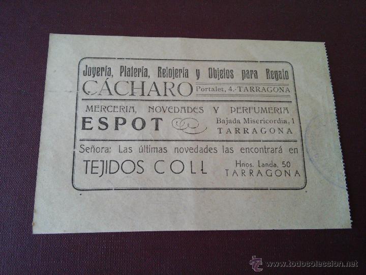 Lotería Nacional: TARRAGONA - PARTICIPACION LOTERIA NAVIDAD AÑO 1948 - EMISOR ASOCIACION DE TRABAJADORES DE LA AGUJA - Foto 2 - 48352504