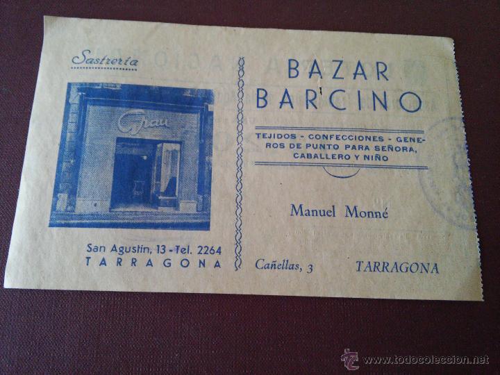 Lotería Nacional: TARRAGONA - PARTICIPACION LOTERIA NAVIDAD AÑO 1955 - EMISOR ASOCIACION DE TRABAJADORES DE LA AGUJA - Foto 2 - 48352562