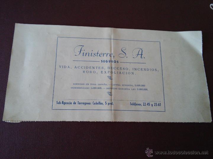 Lotería Nacional: TARRAGONA - PARTICIPACION LOTERIA NAVIDAD AÑO 1954 - EMISOR BAR SPORT - VER ANUNCIOS - Foto 2 - 48352766