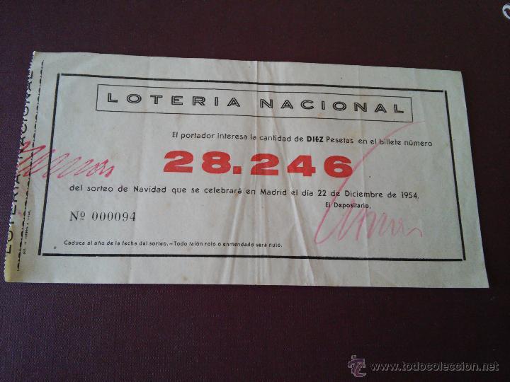 Lotería Nacional: AÑO 1954 - 4 PARTICIPACIONES DE LOTERIA DEL 22 DICIEMBRE - Foto 4 - 48364958