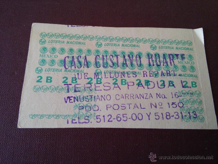 Lotería Nacional: MEXICO - LOTERIA NACIONAL - DOS JUNIO DE MIL NOVECIENTOS SETENTA Y SEIS - Foto 2 - 48365359