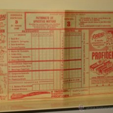 Lotaria Nacional: BOLETO PATRONATO DE APUESTAS MUTUAS MARZO 1968. Lote 48933962