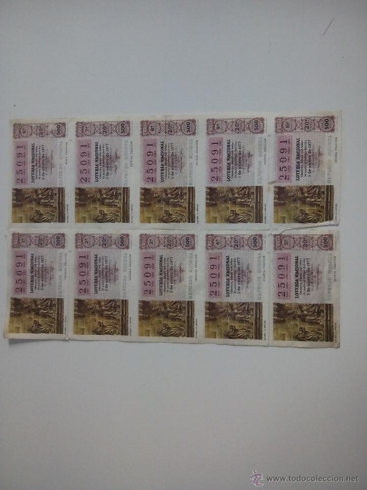 5 ENERO 1977 (Coleccionismo - Lotería Nacional)