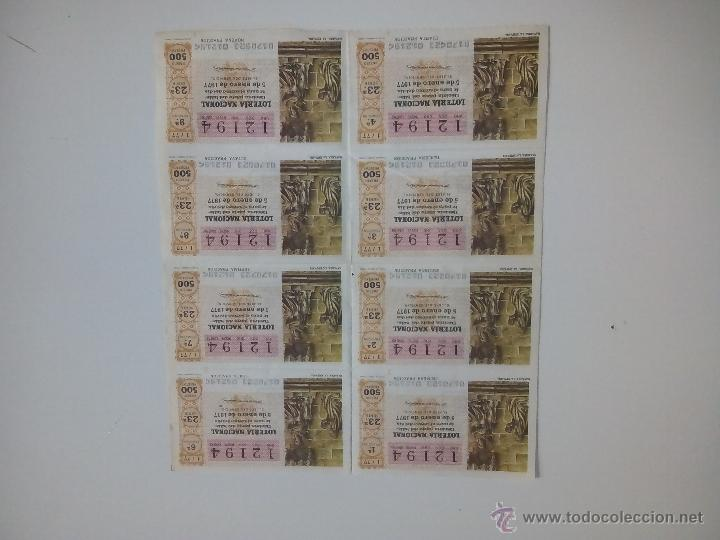 5 ENERO 1977 SERIE 23 (Coleccionismo - Lotería Nacional)