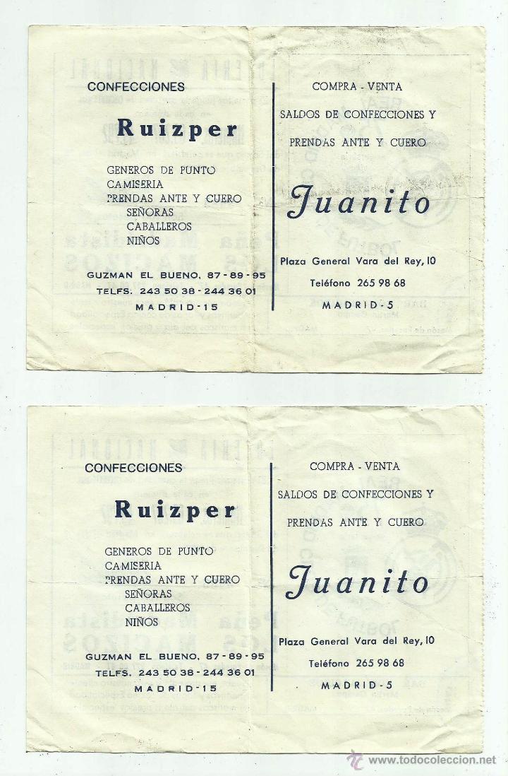 Lotería Nacional: Participaciones lotería Peña Madridista LOS MACIZOS, Juanito 1977 - Foto 2 - 50256137