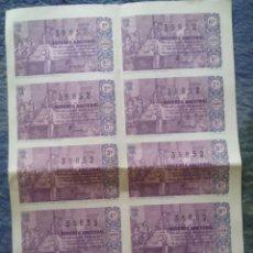Lotería Nacional: LOTERIA NACIONAL / SERIE 5ª COMPLETA EN HOJA CONJUNTA / 10 DECIMOS / SORTEO DE NAVIDAD / 1963. Lote 45713813
