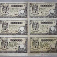Lotaria Nacional: PLIEGO CON 6 DECIMOS DE LOTERIA NACIONAL. AÑO 1940. Lote 50607621