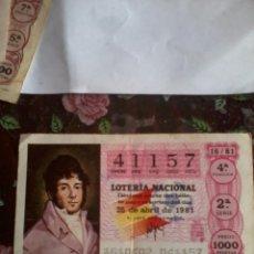 Lotería Nacional: DÉCIMO DE LOTERIA NACIONAL. 25 DE ABRIL 1981. Nº 41157. MOTIVO. MARQUEZ. Lote 50629641