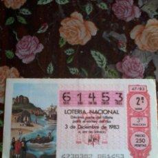 Lotería Nacional: DÉCIMO DE LOTERIA NACIONAL 3 DE DICIEMBRE 1983. Nº 61453. MOTIVOO. VISTA DE PALOS DE LA FRONTERA. Lote 50629679